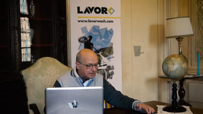 Paolo Bucchi nella sede del Team Lavor