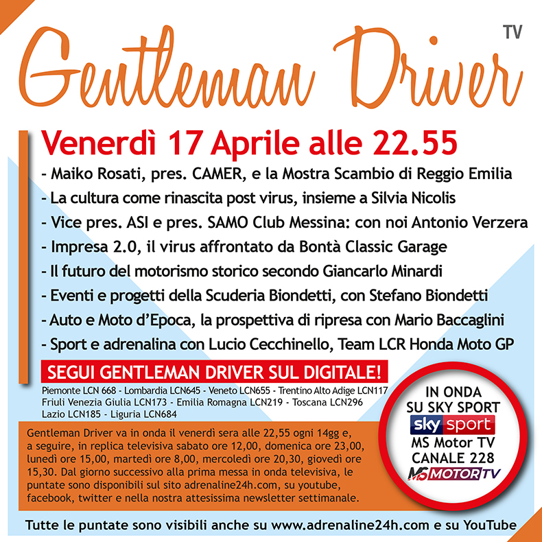 puntata televisiva di Gentleman driver TV