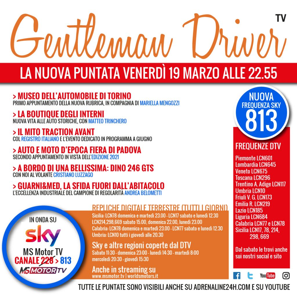 Locandina puntata Gentleman Driver
