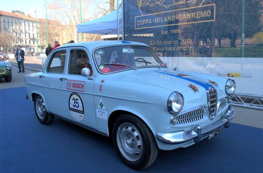 Alfa Romeo Giulietta TI alla Coppa Milano Sanremo