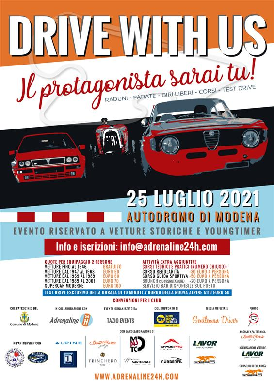 Drive with Us 25 Luglio 2021